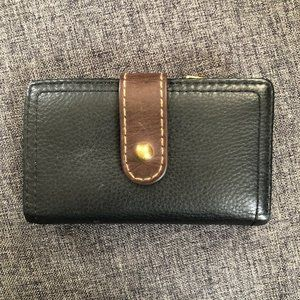 Fossil Trifold Leather Snap Wallet